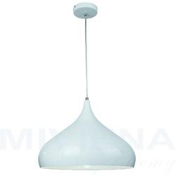 Convex lampa wisząca 1 metal biała