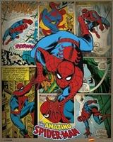 Marvel comics - spider-man retro - plakat