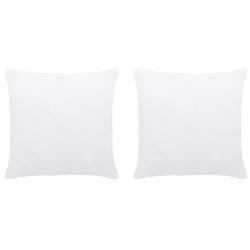 Vidaxl wkłady do poduszek, 2 szt., 30x30 cm, białe