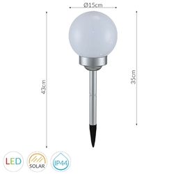Lampa ogrodowa seatle 3, biała