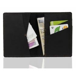 Skórzany cienki portfel brodrene slim wallet sw07 czarny