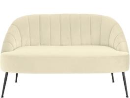Nowoczesna kremowa sofa queeny na czarnych nogach