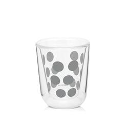 Zestaw 2 szklanek 75 ml z łyżeczkami srebrny dot dot zak designs