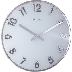 Zegar ścienny Reflect biały Nextime 43 cm 8190 WI