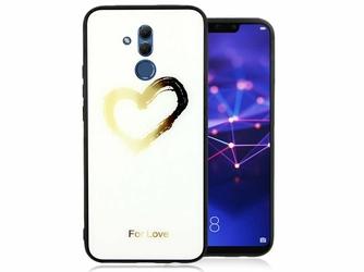 Etui Alogy Glass Armor Case do Huawei Mate 20 Lite białe serce + szkło Alogy - Serce