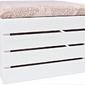 Pufa drewniana schowek skrzynka kuferek siedzisko białe - 25 wzorów