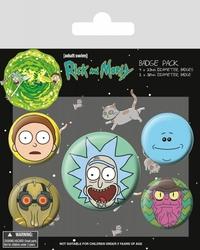 Rick and Morty Heads - przypinki