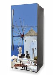 Foto naklejka na lodówkę wiatrak, santorini p564