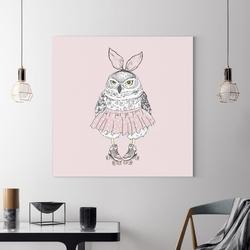 Obraz na płótnie - cute owl , wymiary - 90cm x 90cm