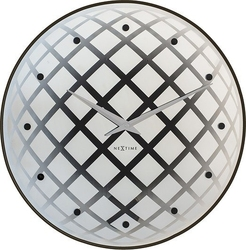 Zegar ścienny pendula round srebrny