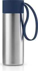 Kubek termiczny to go cup z uchwytem navy blue