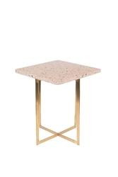 Zuiver stolik luigi kwadratowy różowy 2300184