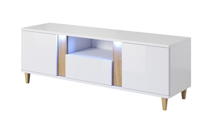 Szafka RTV Cruz 150 cm biała
