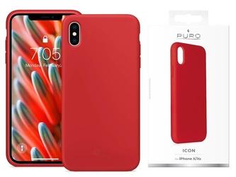 Etui puro icon cover do apple iphone xxs 5.8 czerwone - czerwony