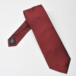 Bordowy krawat jedwabny