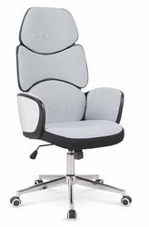 Tapicerowany fotel obrotowy z wysokim oparciem baron