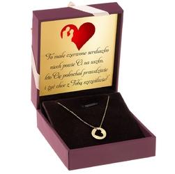 Naszyjnik celebrytka serce w kółku złoto p.585 dedykacja