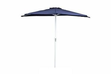 Parasol ogrodowy niebieski półokrągły 270cm na taras balkon