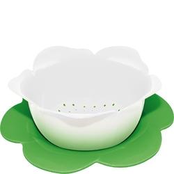 Durszlak z podstawką zak designs duży biało-zielony 1283-a851