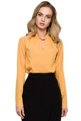 Żółta bluzka z niską stójką