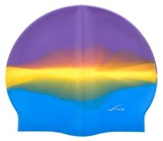 Czepek silikonowy vivo b-1311 multikolor fioletowo-żółto-niebieski