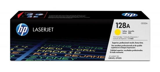HP Toner CP1525CM1415 128A 1.3k CE322A ŻÓŁTY