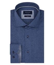 Granatowa dzianinowa koszula profuomo slim fit 43