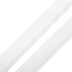 Taśma rzep 16mm haczyk+plusz biała - 1 m - BIA