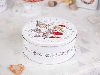 Puszka na ciasteczka i pierniki okrągła świąteczna altom design boże narodzenie christmas 16,5 x 7,5 cm