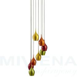 Vibrant lampa wisząca 8 kolorowe aluminium