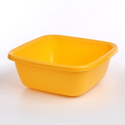 Miska  miednica kwadratowa plastikowa tontarelli 14 l żółta