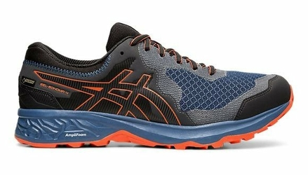 Buty do biegania męskie Asics GEL-SONOMA 4 G-TX czarno-niebiesko-pomarańczowe tekstylne