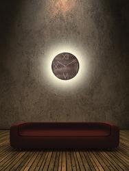 Zegar ścienny galileo nextime 43 cm, brązowy 3104 br