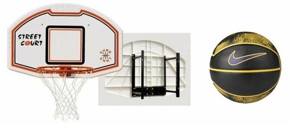 Zestaw do koszykówki Sure Shot 508 Bronx z uchwytem + Piłka Nike Lebron Playground 4P