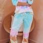 Kolorowy dres w stylu tie dye 1004