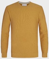 Żółty sweter  pulower o-neck z bawełny  s