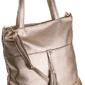 Torebka damska shopper bag badura d024zl złota - złoty