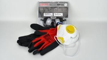 Okulary ochronne + maska + rękawice – zestaw do oprysków