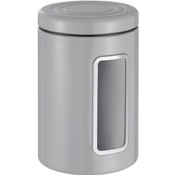 Pojemnik kuchenny szary, metalowy z okienkiem Classic Wesco 321206-76