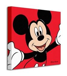 Mickey mouse red - obraz na płótnie
