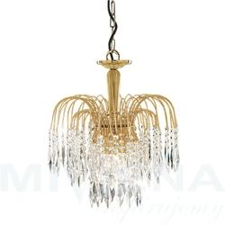 Waterfall lampa wisząca 3 złoty kryształ