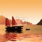 Fototapeta jonque dans la baie dhalong - wietnam