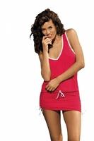 Sukienka plażowa marko elsa anaranjado m-313 czerwona 286