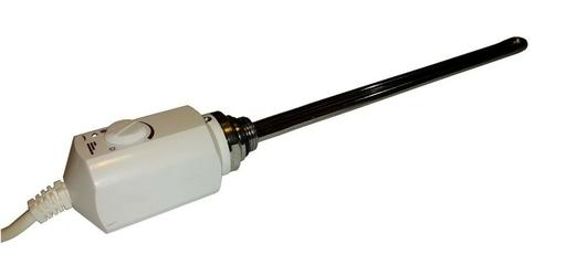 Grzałka elektryczna z termostatem – 600w, biała, zaokrąglona