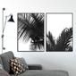 Zestaw dwóch plakatów - black tropics , wymiary - 20cm x 30cm 2 sztuki, kolor ramki - biały