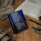 Portfel męski skórzany rfid rovicky d104l-vt2 - czarny  niebieski