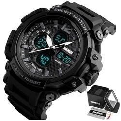 Zegarek męski sportowy skmei 1343 black led alarm