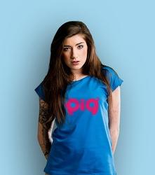 Pig t-shirt damski niebieski xxl