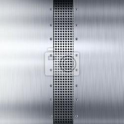 Naklejka płyty ze stali nierdzewnej srebrny