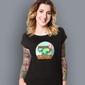 Walizka wolności t-shirt damski czarny xl